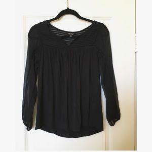 Lucky Brand black blouse